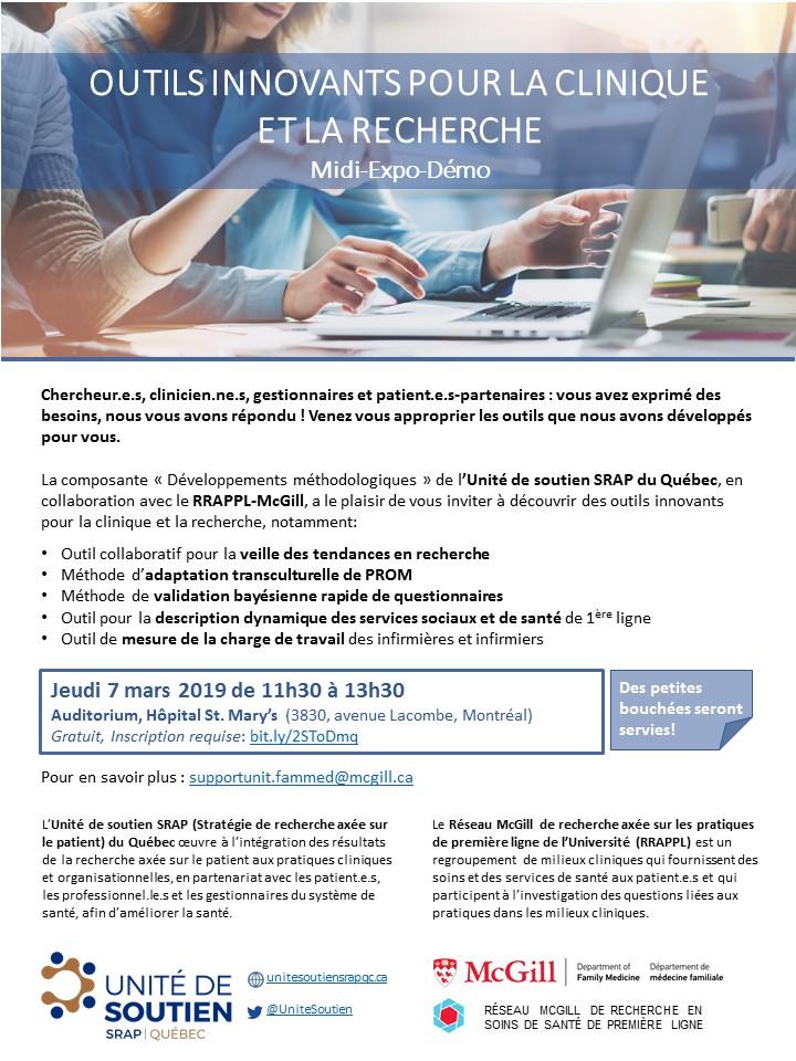 Invitation au midi-expo-démo «Outils innovants pour la clinique et la recherche»